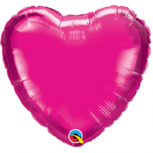 "Magenta Mini Foil Balloon (9"" Heart Air-Fill) 1pc"